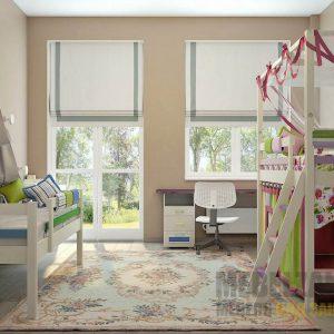 Кровать-чердак в детскую от трех лет со шторками и односпальная кровать