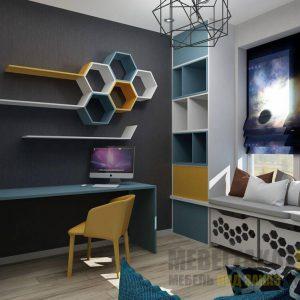 Ультрасовременный комплект дизайнерской мебели в комнату подростка