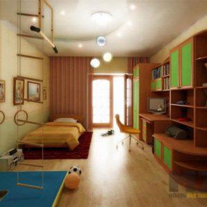 Большой комплект мебели в детскую из МДФ в детскую комнату