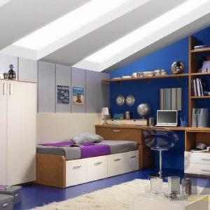 Современная корпусная мебель из МДФ в комнату для мальчика-подростка