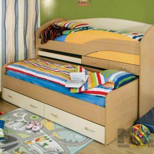 Выдвижная кровать в детскую