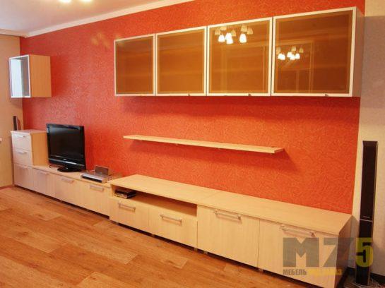 Современная горка в гостиную из МДФ бежевого цвета