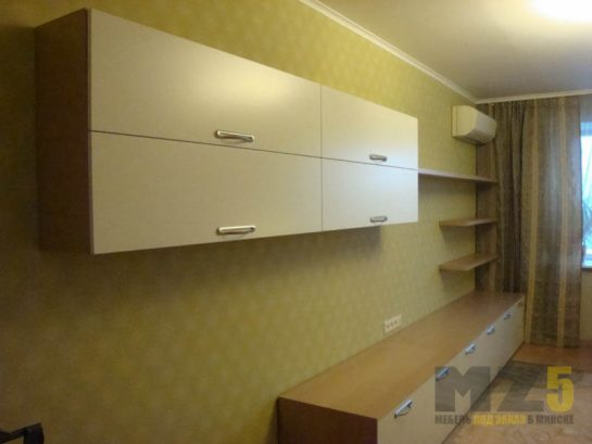 Навесной шкафчик с напольной тумбой в гостиную
