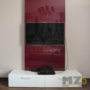 Минималистичная глянцевая тумба под телевизор