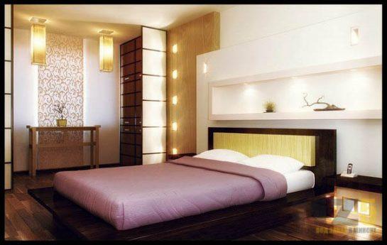 Двуспальная кровать цвета венге