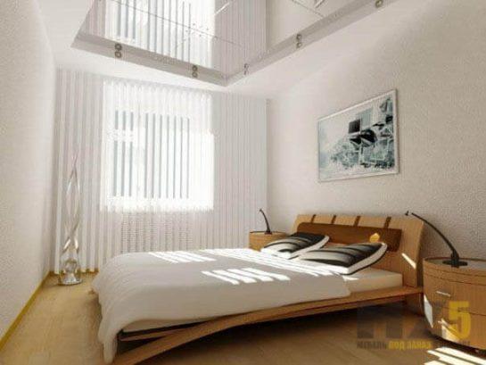 Современная минималистичная двуспальная кровать
