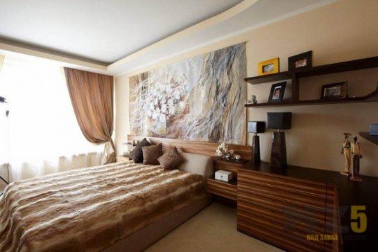 Двуспальная кровать в комнату в стиле модерн