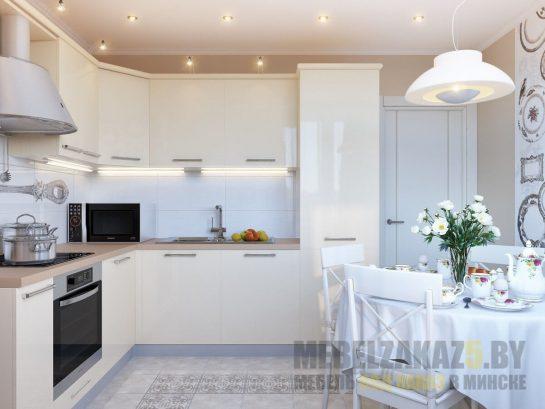 Ультрасовременная глянцевая скрытая угловая кухня