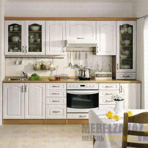 Малогабаритная белая кухня прованс
