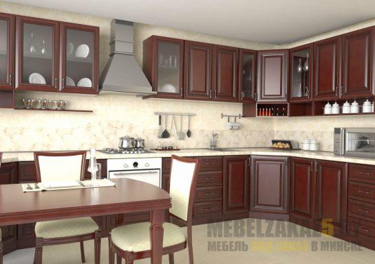 Пленочная кухня темно-бордового цвета