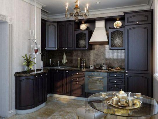 Маленькая кухня прованс цвета венге