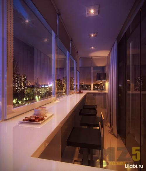 Письменный стол на балкон в стиле минимализм