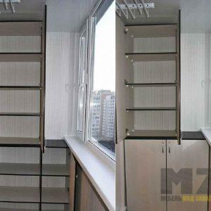 Распашные шкафчики для балкона из ДСП