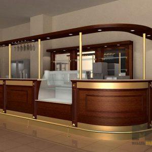 Ресторанная мебель из МДФ с алюминиевыми вставками