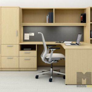 Комплект офисной мебели с рабочей зоной из МДФ