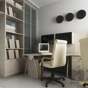 Офисная мебель из ДСП светлого цвета в кабинет для сотрудников
