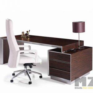 Офисный стол из МДФ с тумбой