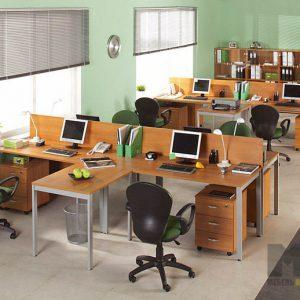 Современный комплект мебели для офиса из ДСП