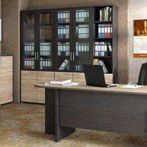 Офисная мебель из МДФ с архивным стеллажом