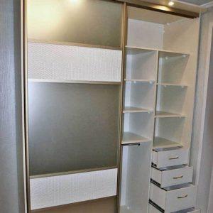Двухдверный комбинированный функциональный шкаф-купе