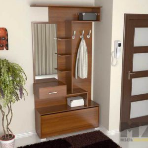 Маленький шкаф для одежды в прихожую из МДФ