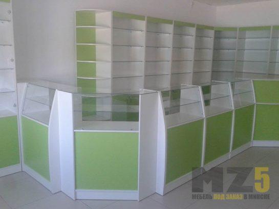 Крашенная торговая мебель из МДФ