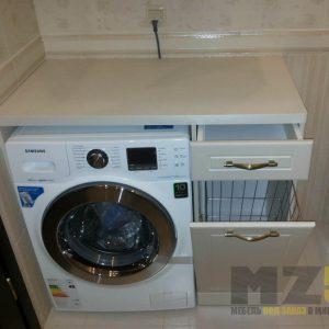Современная тумба в ванную со встроенной стиральной машинкой
