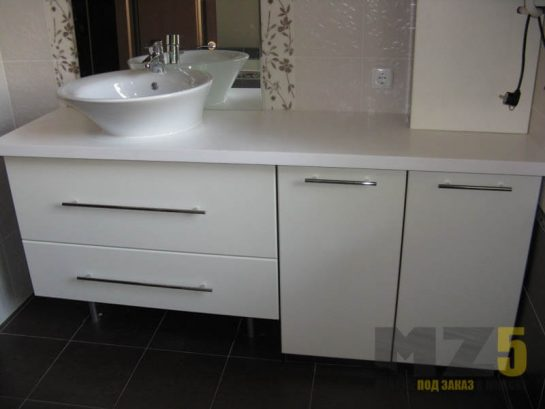 Набор мебели для ванной в стиле минимализм
