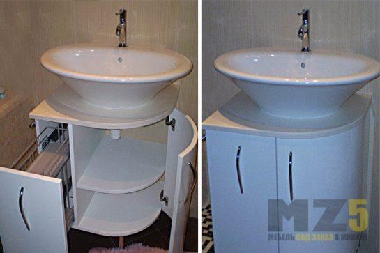 Маленькая тумбочка под раковину для ванной комнаты