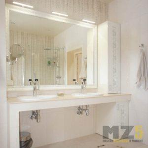 Мебель в ванную в стиле минимализм с 3д фасадами