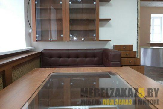 Торговая мебель из МДФ под цвет дерева на заказ