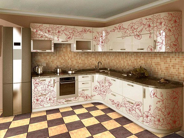 Кухни с пленочным фасадом