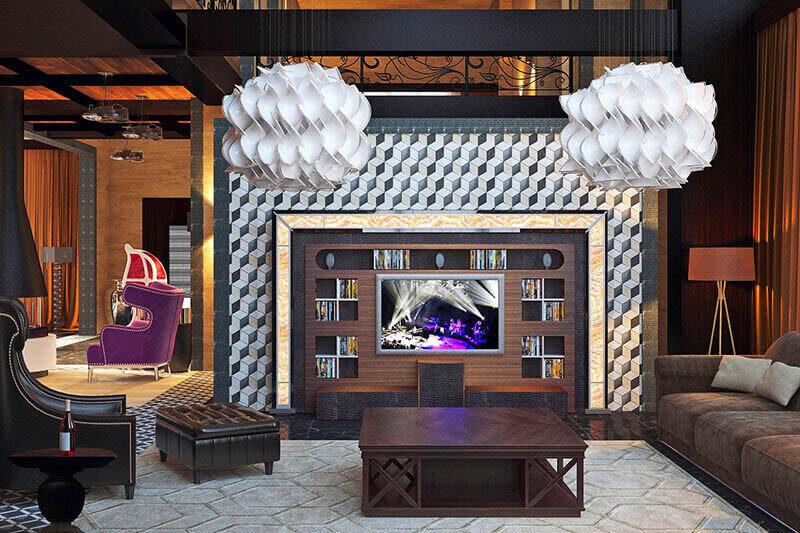 Мебель в гостиную из дерева