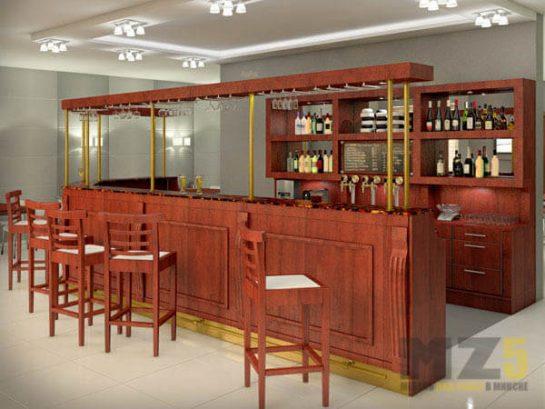 Набор мебели для ресторанов под цвет красного дерева