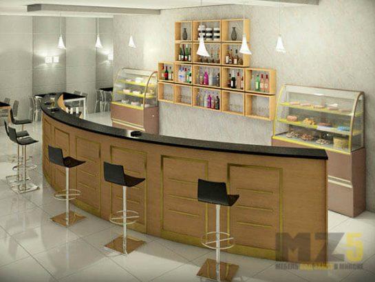 Мебель для ресторанов из МДФ цвета дерева