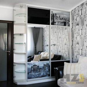 Зеркальный шкаф-купе с фотопечатью