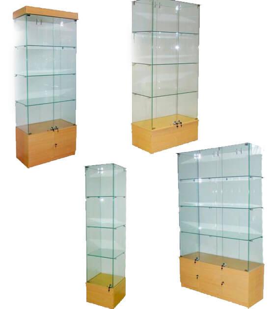 Стеклянные витрины под заказ