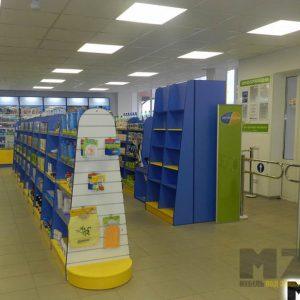 Набор торговой мебели для детского магазина в сине-желтом цвете