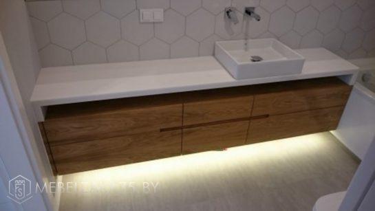 Подвесная тумба в ванную с подсветкой
