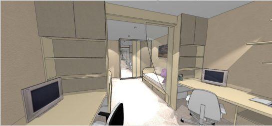 3д визуализация комнаты для ребенка