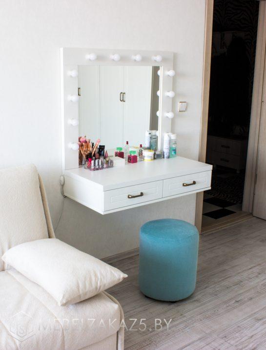 Подвесной письменный столик с зеркалом