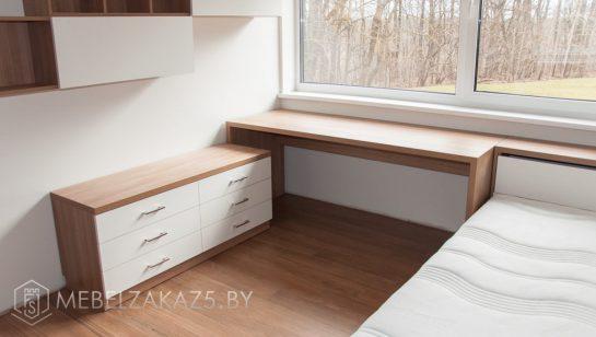 письменный стол и тумба в современном стиле для подростка