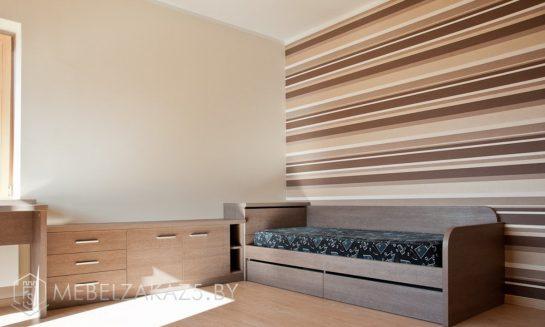 Комплект ультрасовременной мебели в комнату подростка цвета венге