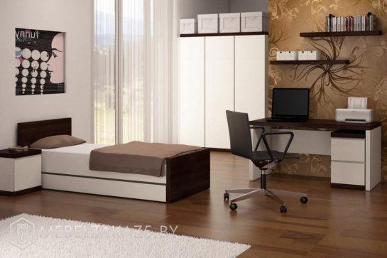 Стильный комплект корпусной мебели в подростковую комнату