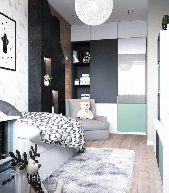 Корпусная мебель в комнату подростка в ультрасовременном стиле
