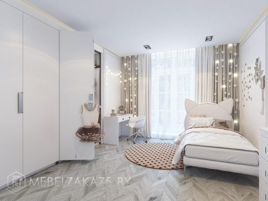 Современная изящная мебель в комнату для девочки-подростка