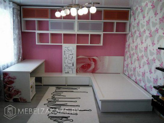 Набор корпусной мебели в детскую для девочки