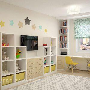 Современная детская мебель в комнату для девочки