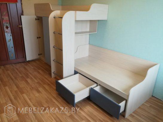 Мебель в детскую для двух детей в современном стиле
