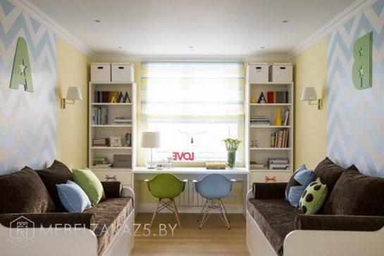 Набор современной мебели в детскую для двоих